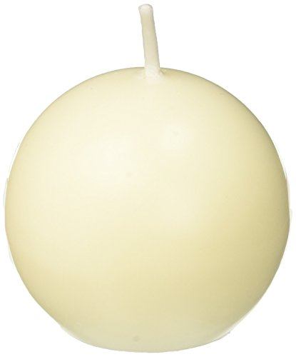 Zest Candle 12-Piece Ball Candles, 2-Inch, Ivory
