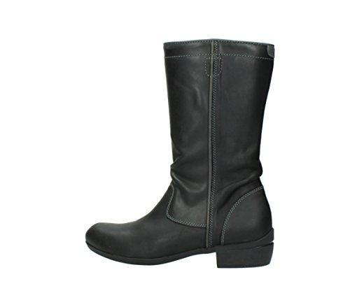 50002 Leather Black Boots Silverado Comfort Wolky xwqz140