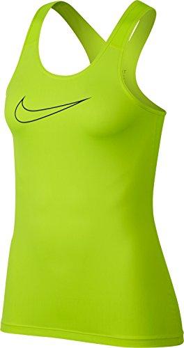 Nike Womens Victory Tank Top (Volt/Black, (Victory Womens Tank)