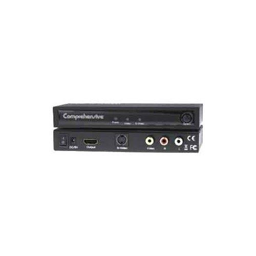 COMPREHENSIVE CABLE CCN-CSH101 / COMPOSITE S-VIDEO TO HDMI CONVERTER W/ L/R RCA AUDIO 2YR WARR