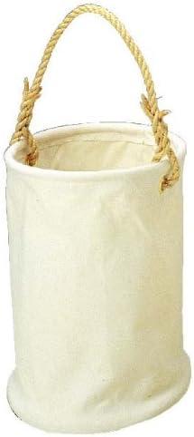 コヅチ(KOZUCHI) 6号帆布 電工用バケツ ホワイト 直径27×高さ35cm KB-01-27 W