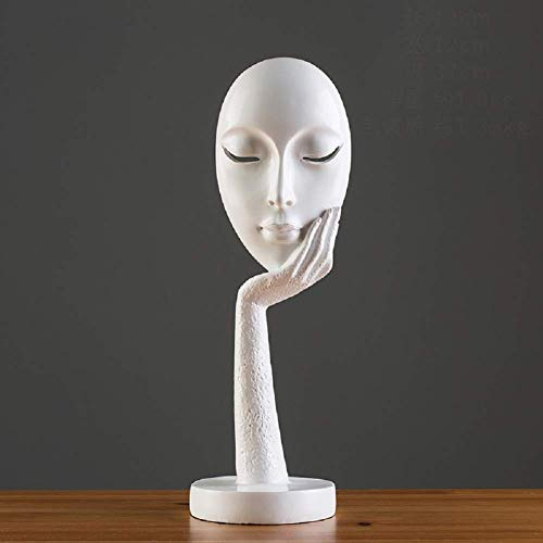 1949shop Abstract Sculpture Decor,Modern Statue Figurines Art Furnishing Crafts Home Decoration Office Ornament for Table top-U