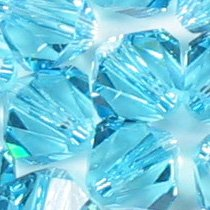 Swarovski Crystal Bicone 5301 6mm AQUAMARINE Beads (20) ()