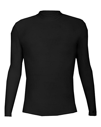 - Badger Sport Adult XL Black Compression Fitted Turtle Neck Long Sleeve Wicking Undershirt/Training Warm-up Shirt