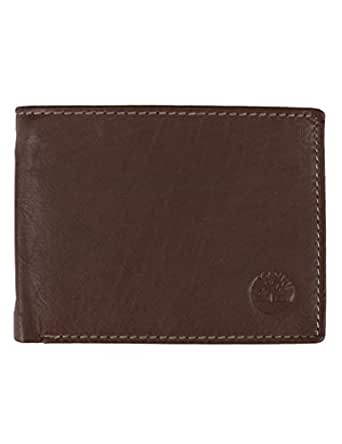 Timberland mens Wellington Leather Rfid Bifold Commuter Security Wallet Wallet - brown - One Size