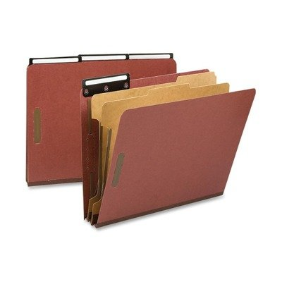 Metal Cut Tab File Pressboard (Smead Pressboard Classification File Folder with SafeSHIELD Fasteners and 1/3-Cut Flat Metal Tab, 2 Dividers, 2