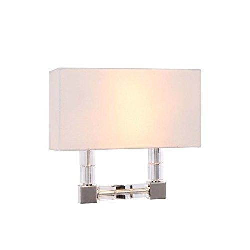 Elegant Lighting 1461W13PN Cristal Collection 2-Light Wall Sconce, 13
