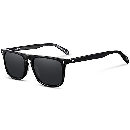 Tony Stark Sunglasses Square Plate Material Frame Polarized for Men Women Sunglasses Classic Downey Iron Man Glass Lens
