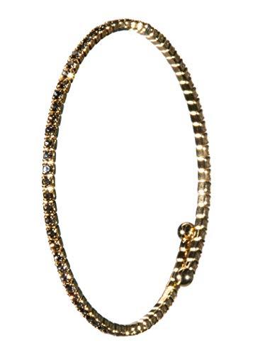 - BR-1099-SS-4702 Bracelet - Single Strand - Topaz/Gold Plated
