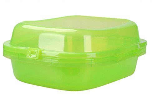 gl open top cat litter box three layers transparent easy to clean cat pan arena kitty litter box