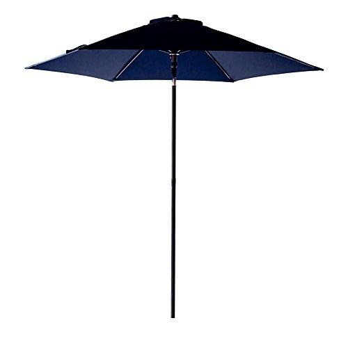Blue Navy Umbrella Market (FLAME&SHADE 7 foot 5 inch Outdoor Patio Market Umbrella with Push Button Tilt, Navy Blue)