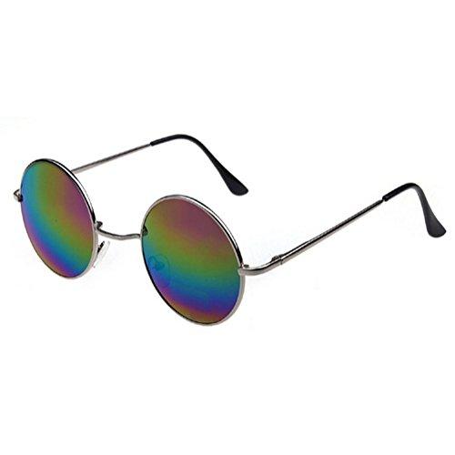 Gafas de años 60 Montura Lentes sol estilo En Plata Multicolor hippie de los rrgqxC