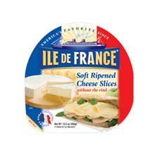 Ile De France Brie Slices, 12.3 Ounce -- 6 per case.