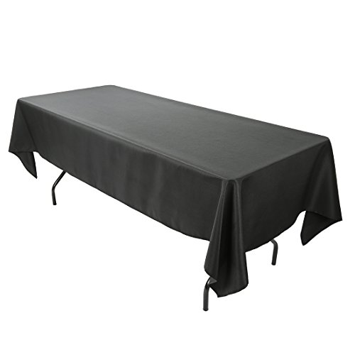 6' Wash (E-Tex 60x102-Inch Polyester Rectangular Tablecloth Black)