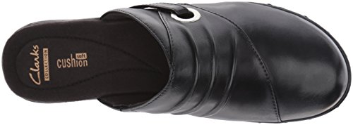 Clarks Women's Black Leather Mule Leisa Bliss xqBHY0aAB