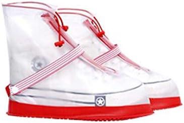 XHYRB 防水靴カバー、ファッション防水靴カバー、女性のメンズ防雨雪のブーツ、靴カバー、太い靴底、ノンスリップブーツ3色のオプション 防水靴、防雨カバー、長靴 (Color : Pink, Size : S)