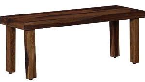 Shilpi Handmade Standard Size Sheesham Wood Bench in Provincial Teak Finish by Shilpi