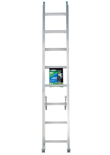 Werner D1216-2 225-Pound Duty Rating Aluminum Flat D-Rung Extension Ladder, 16-Foot