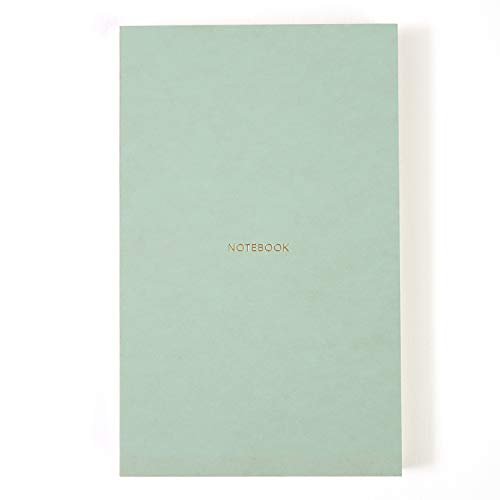 - Pinesman · Notebook Journal · Medium Size · Hard Cover · Naked Spine · 160 Pages · 210 x 130 mm · Concrete-Mint · Dotted