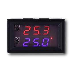 Icstation DC 12V Programmable Temperature Controller, Smart Home Incubator Aquarium Car Improvement Mini Digital Thermostat Regulator Switch Module Waterproof Sensor -58? to 230?