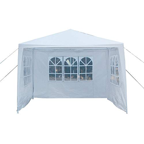 Crazyworld 10'x10′ Outdoor Canopy 3 Sidewalls Wedding Party Tent Gazebo Heavy Duty Pavilion Cater Event Side Walls & Carrying Bag