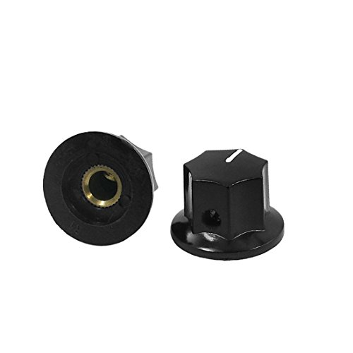uxcell 2pcs Plastic 6mm Shaft Dia Volume Knob Cap B-1 for Potentiometer Pot