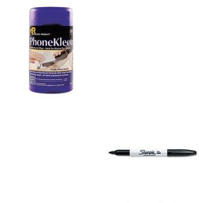 KITREARR1403SAN30001 - Value Kit - Read Right PhoneKleen Wet Wipes (REARR1403) and Sharpie Permanent Marker (SAN30001) (Phonekleen Wet Wipes)