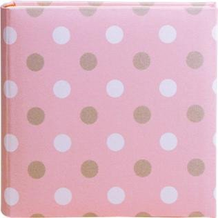 Pink Ice Cream Dots - HOM Home Essence Ice Cream Dot Pink Photo Album 2-Up