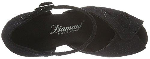 Diamant Damen Tanzschuhe 011-064-156 - Zapatillas de danza de Terciopelo para mujer negro 4 1/2, color negro, talla Negro (Black Waterproof)