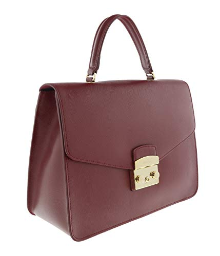 Furla Women's Furla Metropolis M Red Cherry Leather Handbag Red (Sonnenbrille Furla)