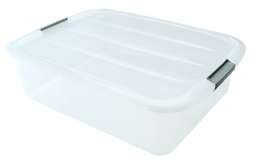 IRIS USA 100543 32 quart Under bed Buckle Up Box, Clear by IRIS USA, Inc.