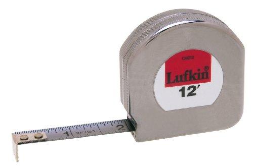 Tape Lufkin Mezurall Measure - Lufkin C9212 1/2-Inch x 12-Foot Mezurall Chrome Clad Tape