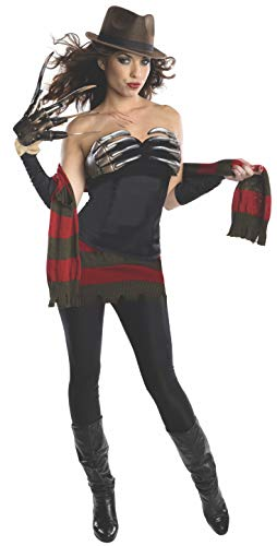 Freddy Krueger Sweater Dress (Secret Wishes Women's Nightmare On Elm Street Freddy Corset Style Costume, Multi,)