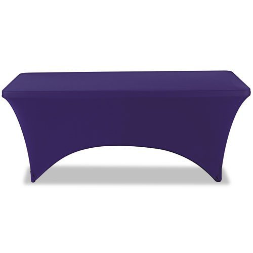 Iceberg 16526 Stretch-Fabric Table Cover, Polyester/Spandex, 30