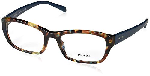 Prada Womens Glasses Frames - Prada PR18OV NAG1O1 Eyeglass, Havana Spotted