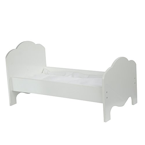 Teamson Design Corp Olivia's Little World - Princess Classic Single Bed | Wooden 18 inch Doll Furniture ()