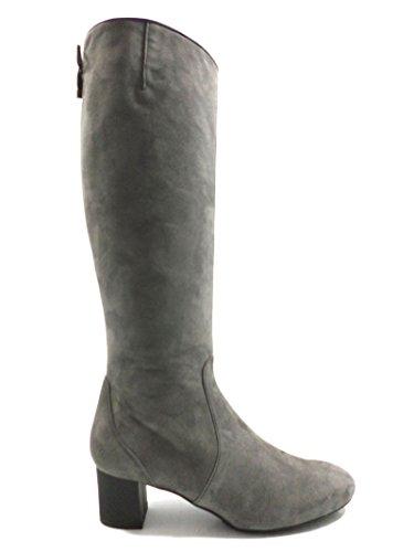 Zapatos mujer HOGAN Botas gris Gamuza AZ202