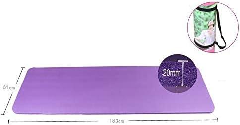 Eco friendly ヨガマットストラップ付きノンスリップヨガマットエコワークアウトとエクササイズマット - ヨガに適した、ピラティス、床は183 * 61 * 2(cm)を演習します exercise (色 : Purple)