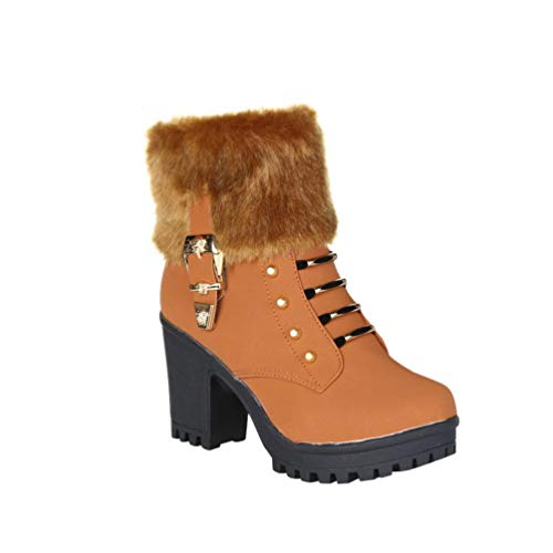 Gyoume Teen School Boots,Women Ankle Boots Martin Boots Shoes High Heel Platform Boots Shoes