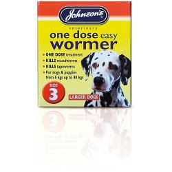 Johnsons Vet One Dose Easy Wormer Size 3 4 x 500mg Tablets (200740)