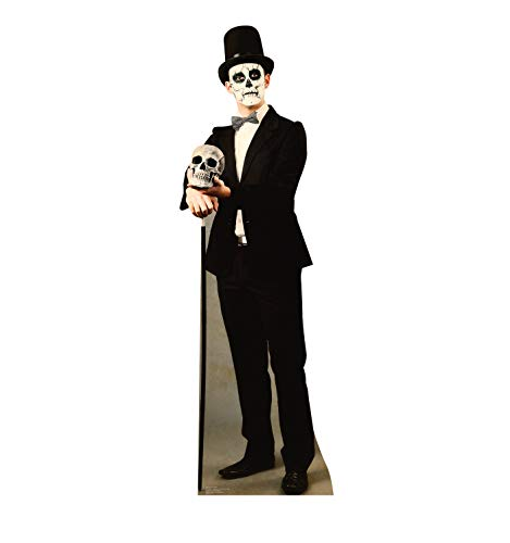 Dead Famous Halloween Party (Advanced Graphics Day of The Dead Man Life Size Cardboard Cutout)