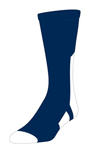 TCK Player Id Navy/White Number Crew Sock (#4 - Single Sock, Small)