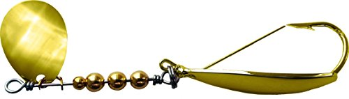 Gold Sleigh (Precision Tackle 48881 Cajun Sleigh In-Line Spinner Spoon, 1/8 oz, Gold)