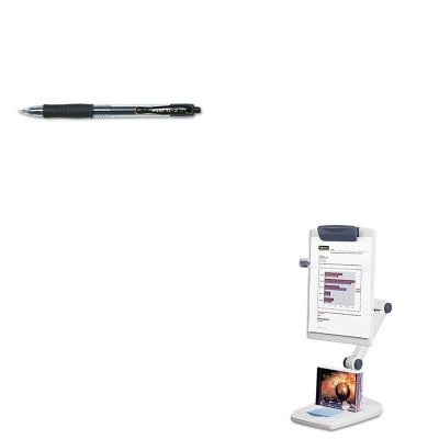 KITFEL21128PIL31020 - Value Kit - Fellowes Weighted Flex Arm Desktop Copyholder (FEL21128) and Pilot G2 Gel Ink Pen (PIL31020)