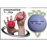 Handmaster Plus hand exerciser - 3-piece set (purple, red and orange)