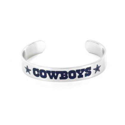 Dallas Cowboys Silver Cuff Bracelet by Dallas Cowboys