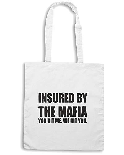 HIT OLDENG00134 BY MAFIA Shirt Borsa YOU Bianca THE Speed INSURED Shopper vq4OIwxnU