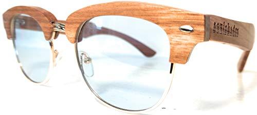 1c6580322d Semi-Rimless Wood Sunglasses for Women and Men - Real Zebra Wood ...