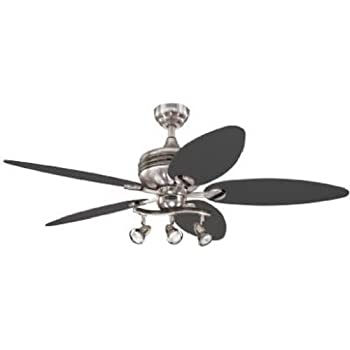 Westinghouse 7234265 Xavier II 52 Inch Ceiling Fan, Brushed Nickel w Gunmetal Accents Finish