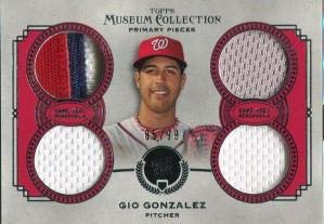 (Gio Gonzalez Unsigned 2013 Topps Museum Collection Jersey Card - Baseball Game Used Cards)